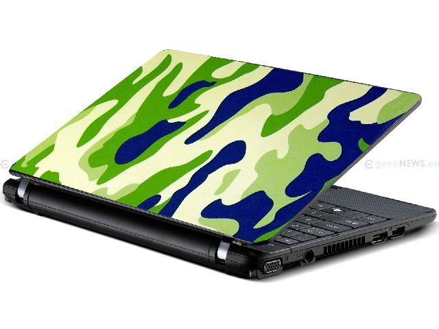 Samolepka na notebook Maskovačka zelená