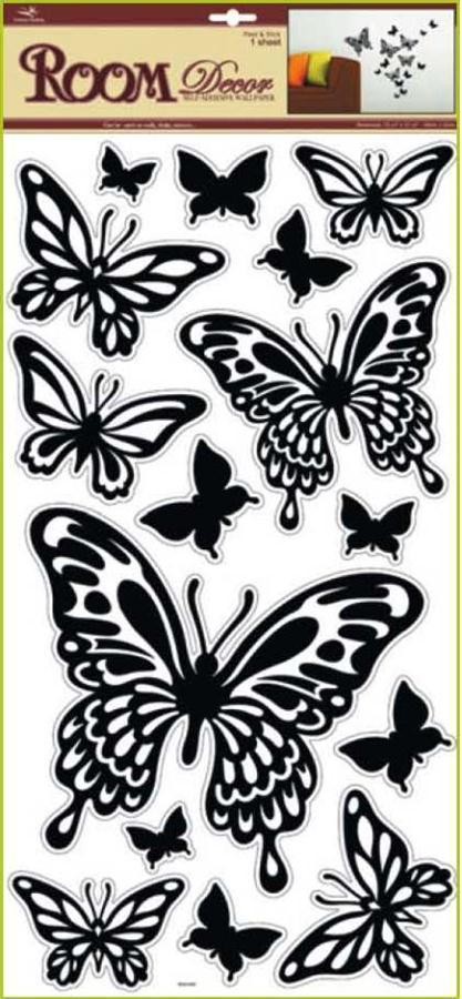 Samolepka Room Decor Motýli černí 69x30cm