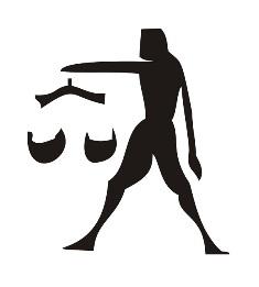Samolepka na zeď Znamení zvěrokruhu Váhy