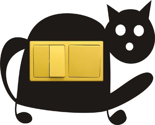 Samolepka pod vypínač Kočka (dvojrámeček)