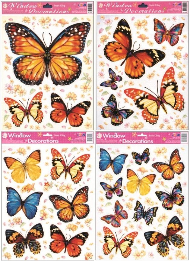 Okenní fólie Motýlci 30 x 20 cm set