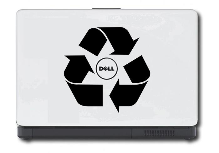 Samolepka na notebook Recyklace