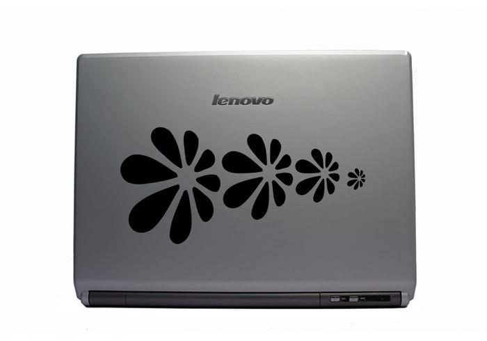 Samolepka na notebook Letící květy