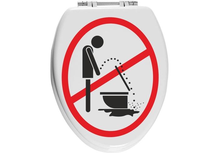 Samolepka na WC Zákaz