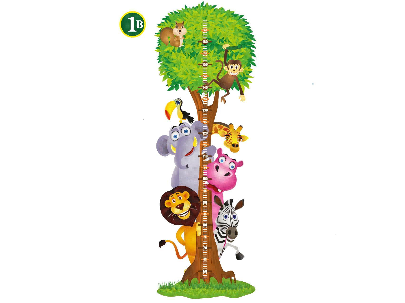 Samolepící dětský metr Strom se zvířátky