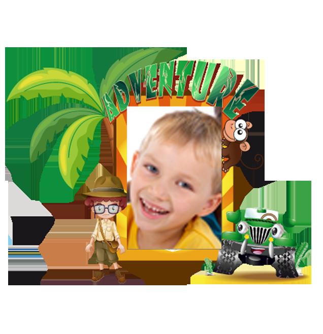 Dětský samolepící FOTORÁMEČEK - Safari POSLEDNÍ KUS