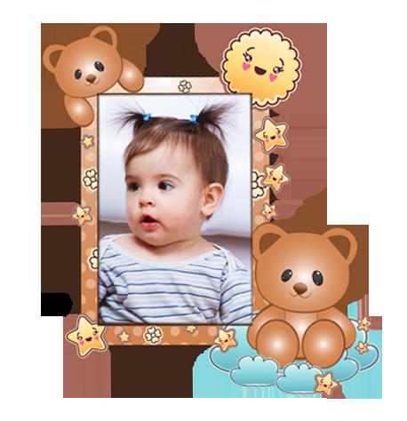 Dětský samolepící FOTORÁMEČEK - Medvídek POSLEDNÍ KUS