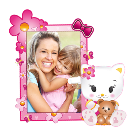 Dětský samolepící FOTORÁMEČEK - Hello Kitty POSLEDNÍ KUS