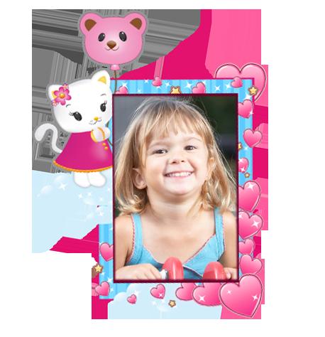 Dětský samolepící FOTORÁMEČEK - Hello Kitty 2 POSLEDNÍ KUS