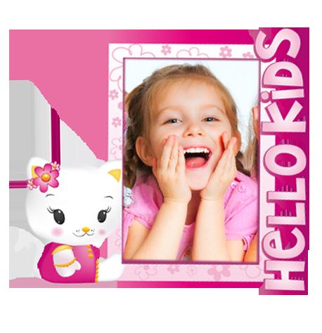 Dětský samolepící FOTORÁMEČEK - Hello Kitty 3 POSLEDNÍ KUS