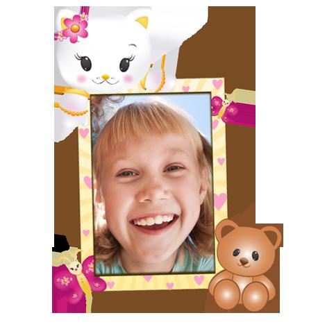 Dětský samolepící FOTORÁMEČEK - Hello Kitty 4 - POSLEDNÍ KUS