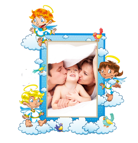 Dětský samolepící FOTORÁMEČEK -Andílci POSLEDNÍ KUS