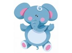 Bily vanocni slon