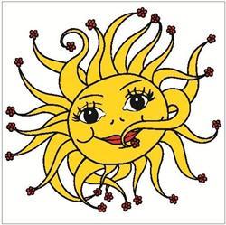 Okenní fólie sluníčko 33x35 cm