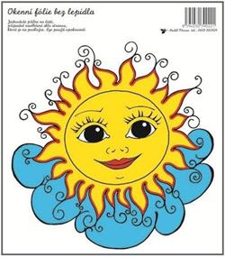 Okenní fólie sluníčko na mráčku 20x23cm