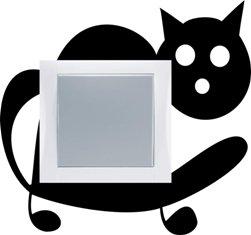 Samolepka pod vypínač Kočka