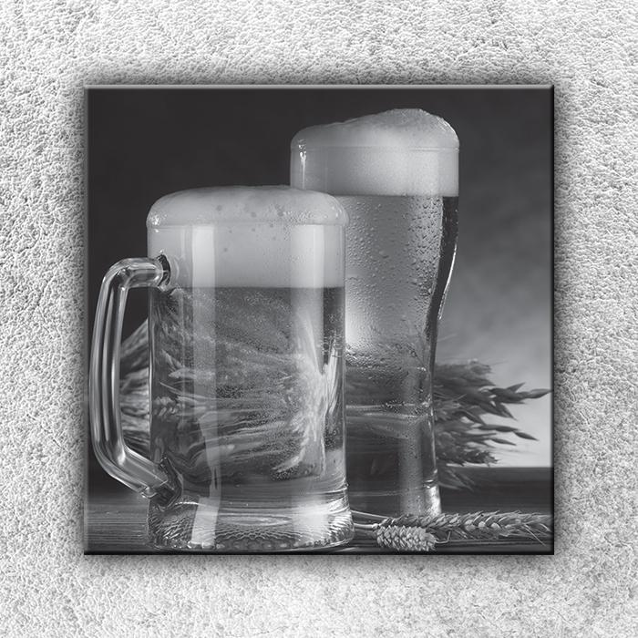 Jednodílný obraz Půllitry piva 70 x 70 cm