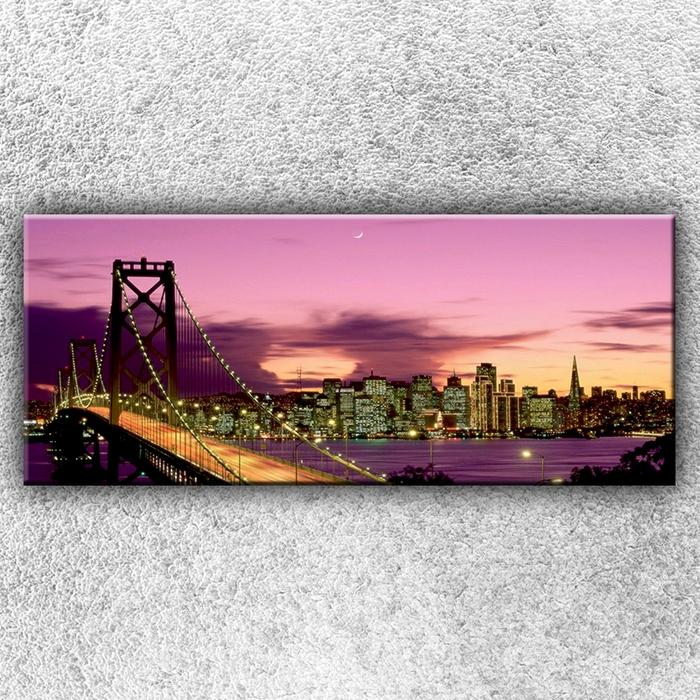 Jednodílný obraz Most při západu slunce 120 x 50 cm