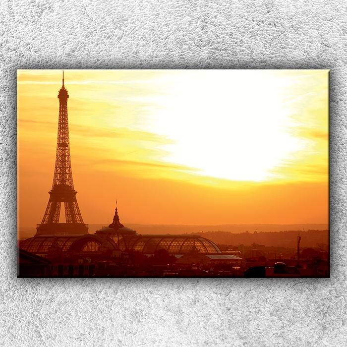 Jednodílný obraz Eifelovka při západu slunce 120 x 80 cm