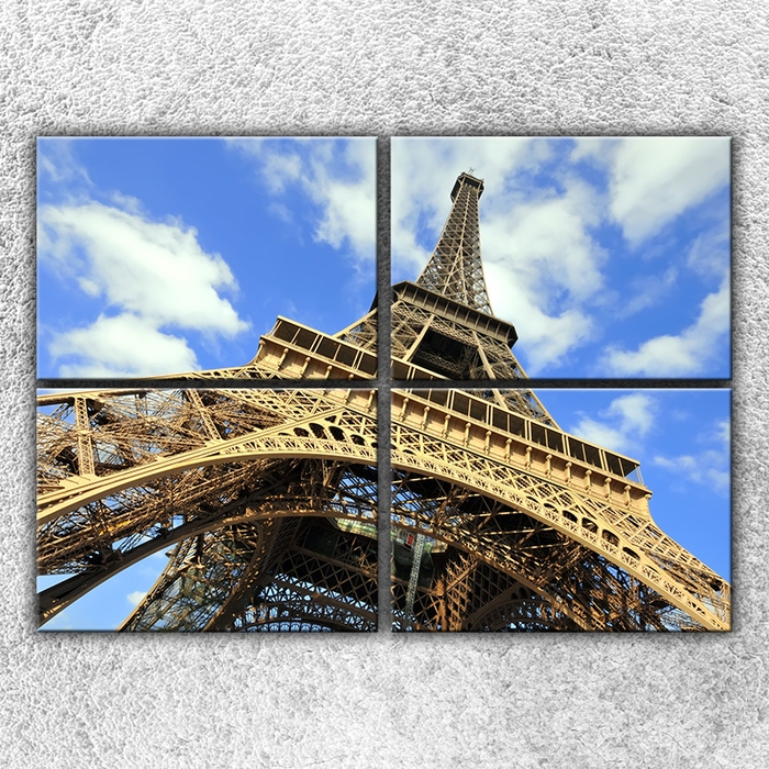 Čtyřdílný obraz Eifelovka zespodu 140 x 100 cm
