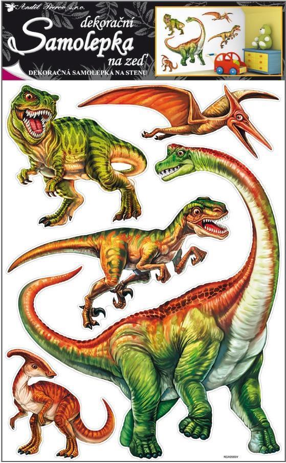 Samolepka Room Decor dinosauři 70x42cm