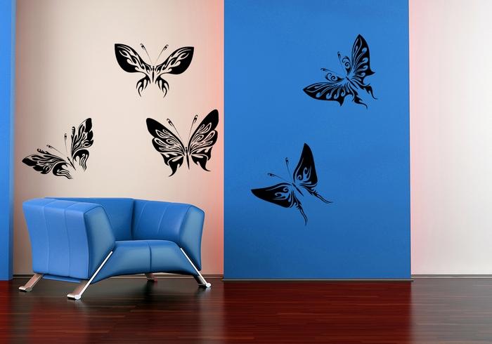 Samolepka na zeď Motýlci ART 5 kusů