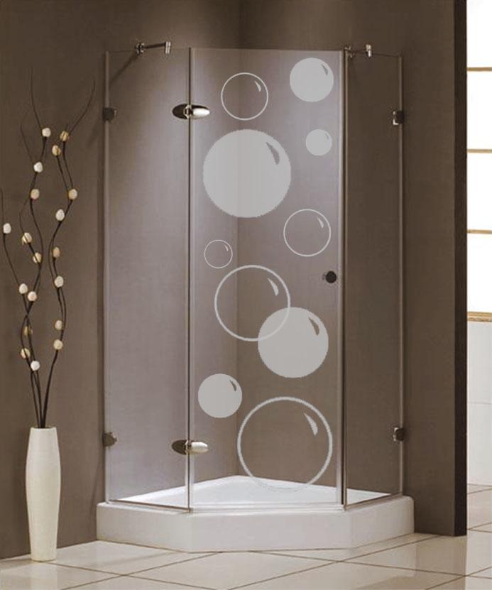 Samolepka na sprchový kout - Bubliny