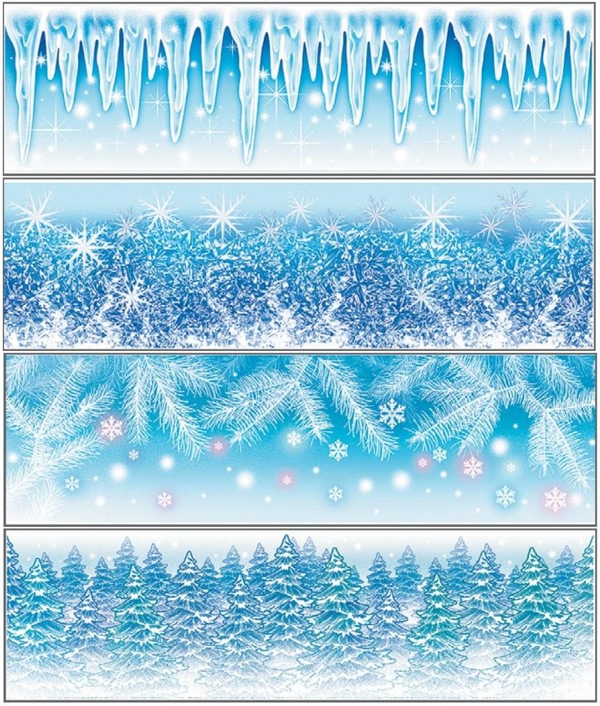 Okenní fólie pruh Ledová kolekce set