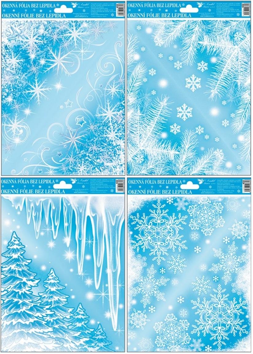 Okenní fólie pruh Ledové rohy set