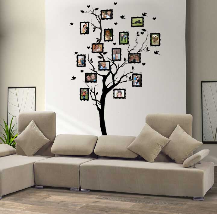 Samolepka na zeď Strom na rodokmen, 185 x 100 cm