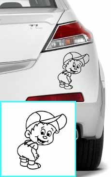Samolepka na auto chlapeček
