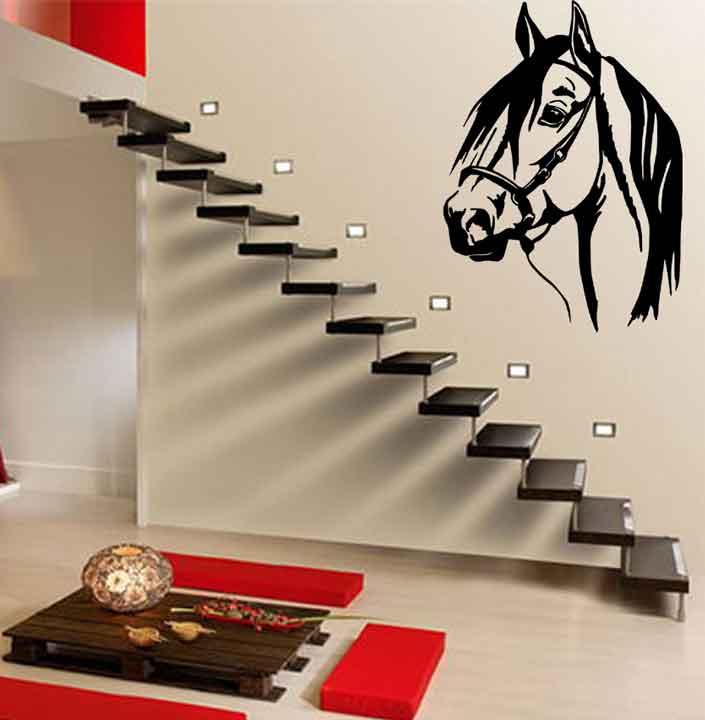 Samolepka na zeď Hlava koně