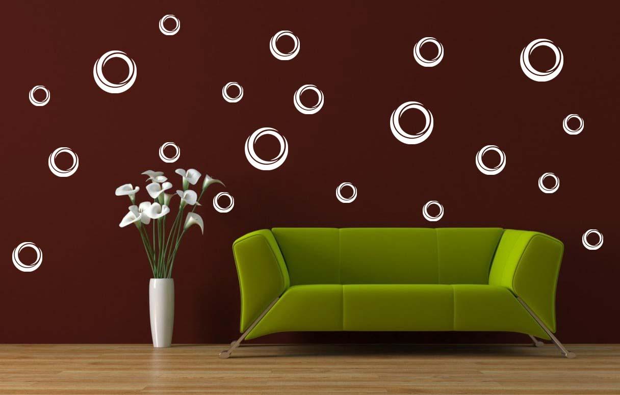 Samolepka na zeď Moderní bubliny