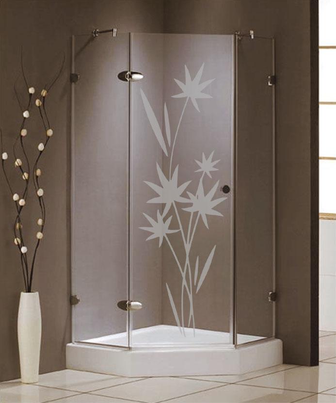 Samolepka na sprchový kout - Květiny