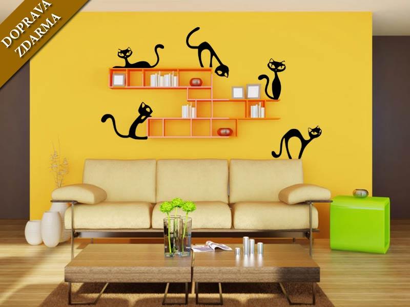 Samolepka na zeď Nezbedné kočky