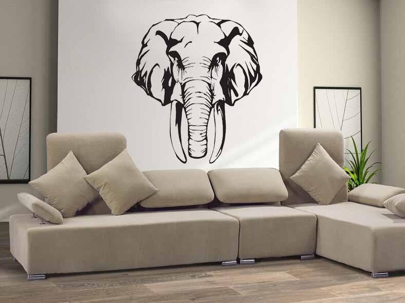 Samolepka na zeď Slon hlava