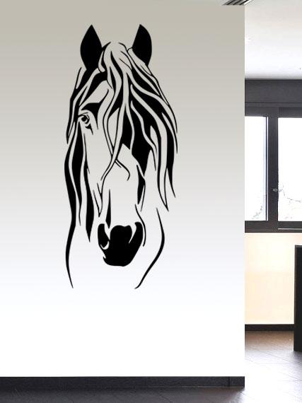 Samolepka na zeď Hlava koně 2
