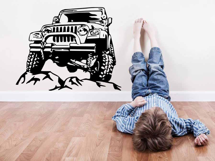 Samolepka na zeď Teréní auto