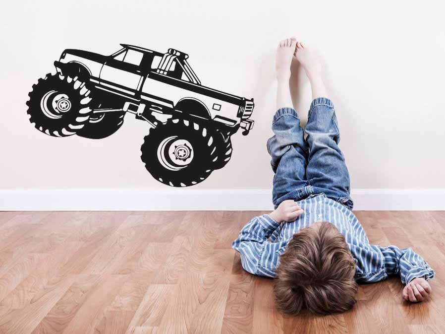 Samolepka na zeď auto Monster truck