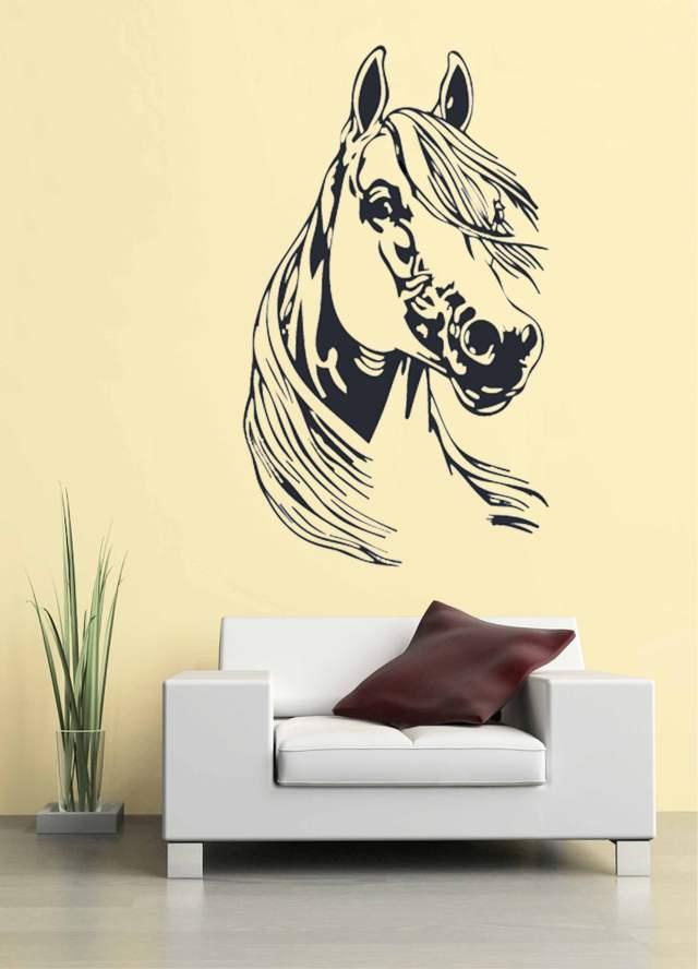 Samolepka na zeď Hlava koně 3