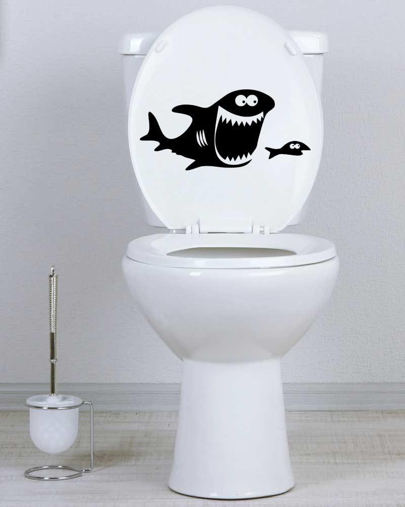 Samolepka na WC Žralok a ryba