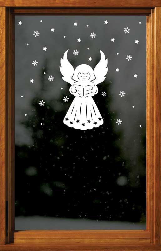Anděl + vločky, hvězdy