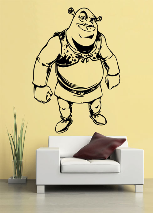 Samolepka na zeď Shrek