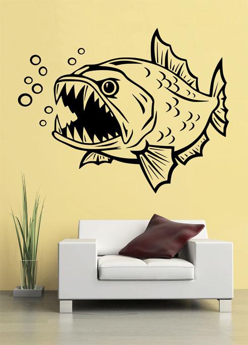 Samolepka na zeď Zlá ryba