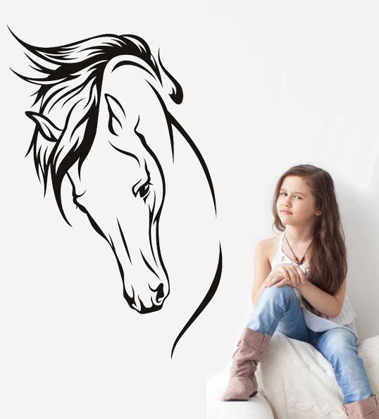 Samolepka na zeď Hlava koně 4