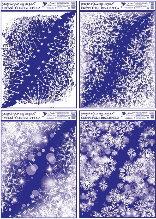 Okenní fólie rohová zamrzlé rohy 42x30cm set