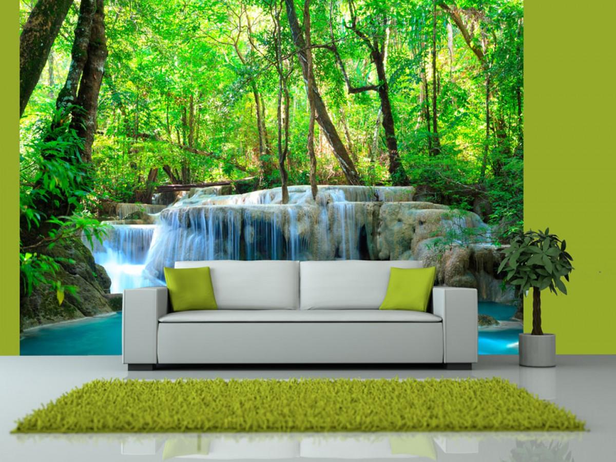 Fototapeta - Lesní vodopády v Thajsku
