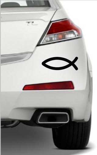 Samolepka na auto Rybička- křesťanský symbol