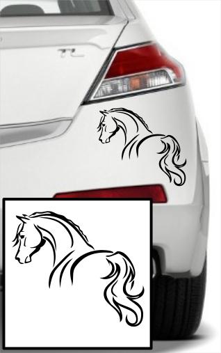 Samolepka na auto Kůň, 15x13 cm