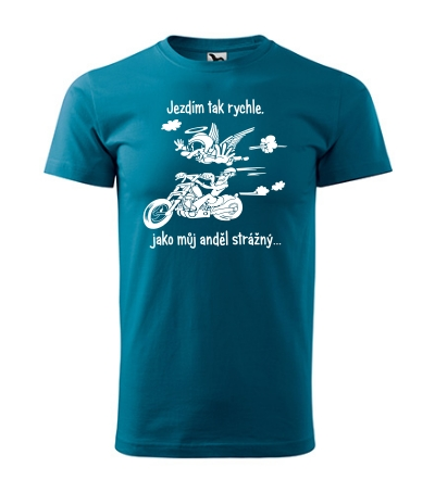 Pánské tričko Motorkářské - anděl strážný